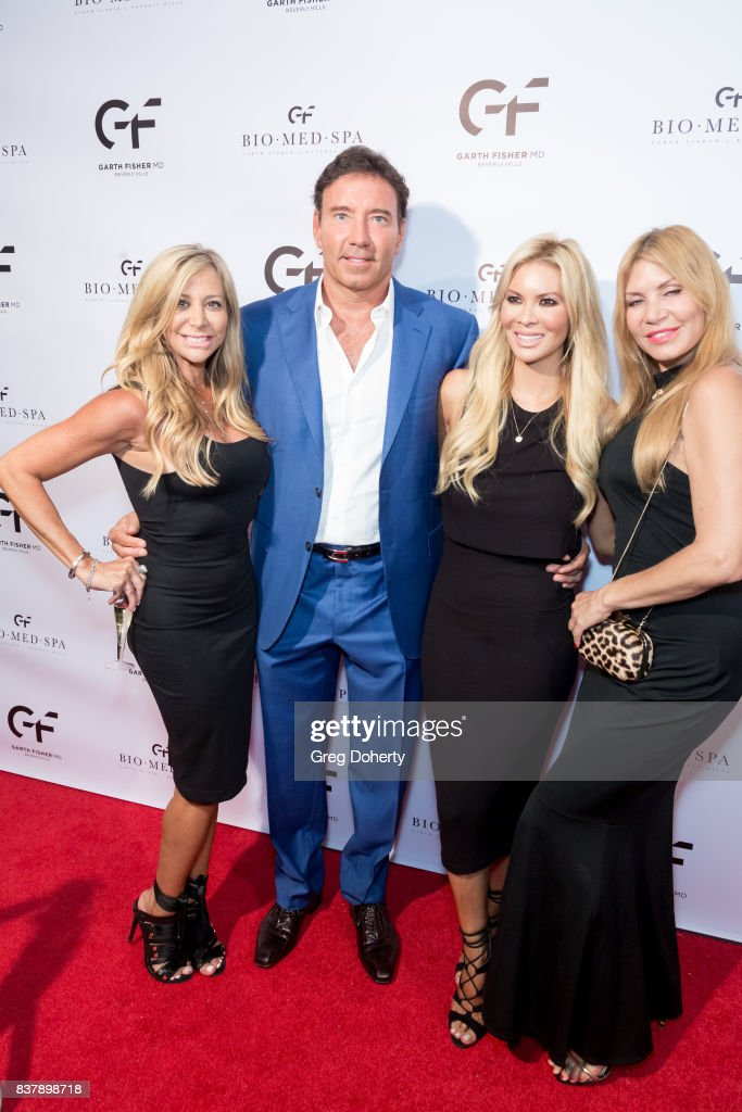 Leslie, Dr. Garth Fisher, Chanel Lee and Gisela attend the Official Launch Party Of Dr. Garth Fisher's BioMed Spa at Garth Fisher MD on August 22, 2017 in Beverly Hills, California.