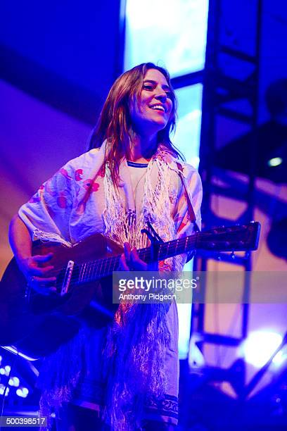 Leslie Feist of Feist performs onstage at Pickathon Festival Happy Valley Oregon USA on 4th August 2013
