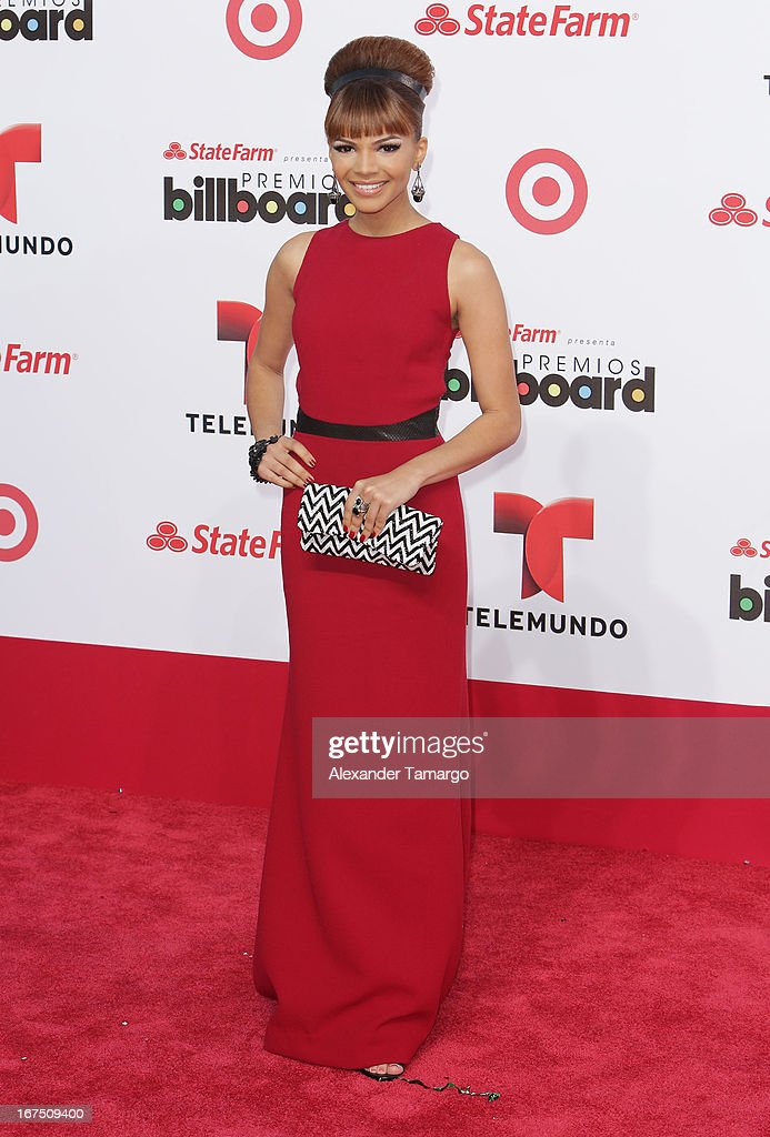 Leslie Grace arrives at Billboard Latin Music Awards 2013 at Bank United Center on April 25, 2013 in Miami, Florida.