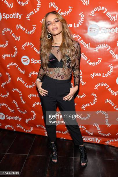 Leslie Grace at Spotify Celebrates Latin Music and Their Viva Latino Playlist at Marquee Nightclub on November 14 2017 in Las Vegas Nevada