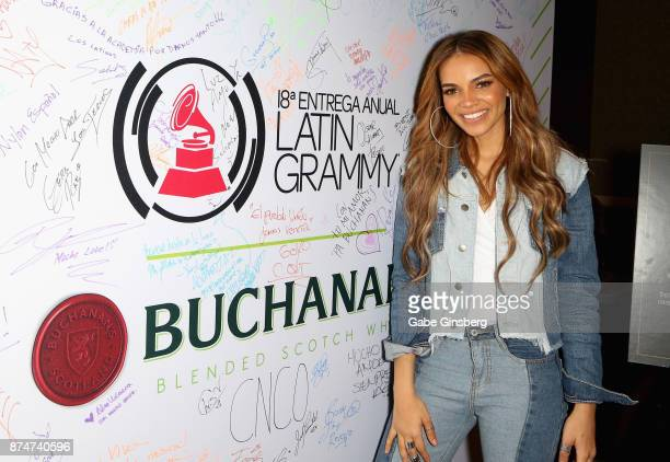 Leslie Grace attends the gift lounge during the 18th annual Latin Grammy Awards at MGM Grand Garden Arena on November 15 2017 in Las Vegas Nevada