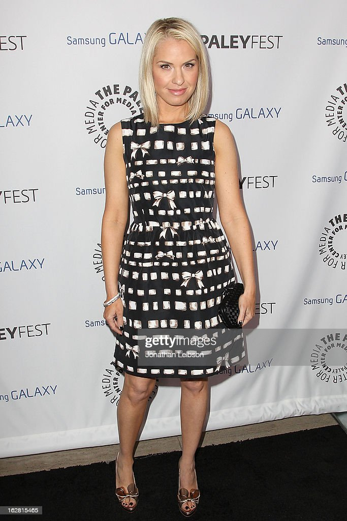 Leslie Grossman arrives to The Paley Center Honors Ryan Murphy With Inaugural PaleyFest Icon Award at The Paley Center for Media on February 27, 2013 in Beverly Hills, California.