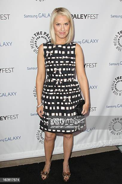 Leslie Grossman arrives to The Paley Center Honors Ryan Murphy With Inaugural PaleyFest Icon Award at The Paley Center for Media on February 27 2013...