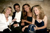 Leslie Holleran Jeremy Irons Lena Olin and Betsy Beers