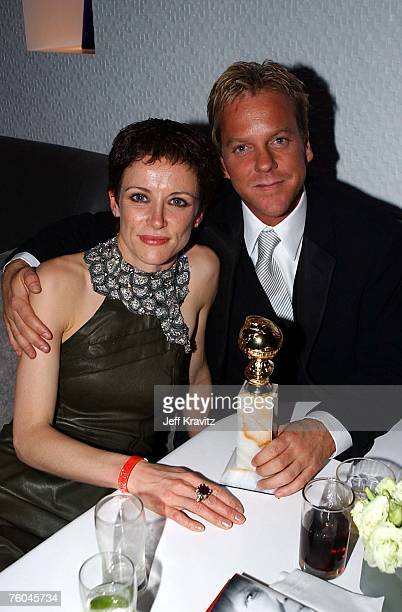 Leslie Hope and Kiefer Sutherland