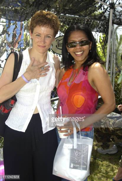 Leslie Hope and Penny Johnson Jerald during Cabana PreMTV Movie Awards Beauty Buffet Day One at Private Residence in Hollywood California United...