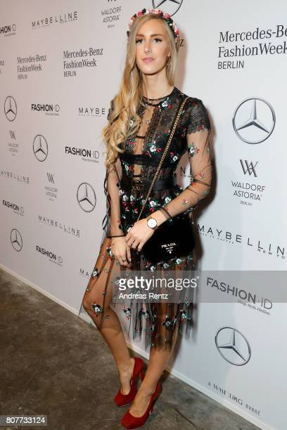 Leslie Huhn attends the Lena Hoschek show during the MercedesBenz Fashion Week Berlin Spring/Summer 2018 at Kaufhaus Jandorf on July 4 2017 in Berlin...