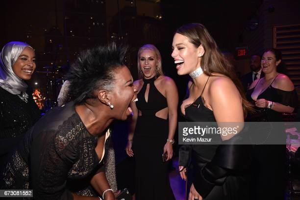 Leslie Jones and Ashley Graham attend 2017 Time 100 Gala at Jazz at Lincoln Center on April 25 2017 in New York City