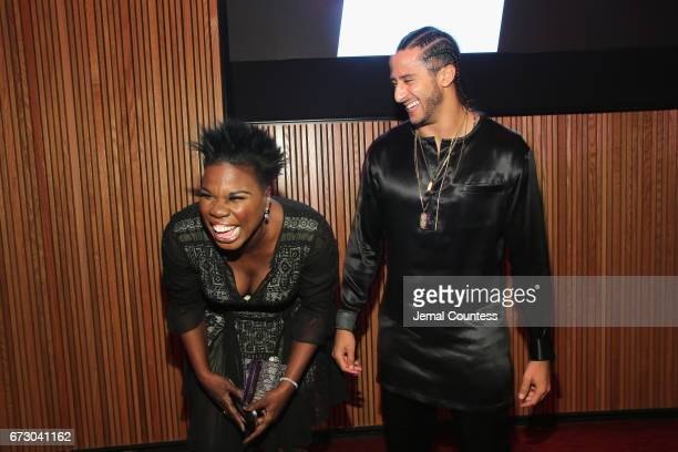 Leslie Jones and Colin Kaepernick attend the 2017 Time 100 Gala at Jazz at Lincoln Center on April 25 2017 in New York City