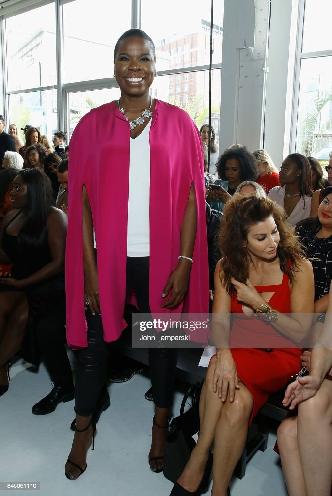 Leslie Jones, attends the Christian Siriano collection during the September 2017 New York Fashion Week: The Shows at Pier 59 on September 9, 2017 in New York City.