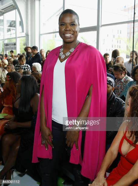Leslie Jones attends the Christian Siriano collection during the September 2017 New York Fashion Week The Shows at Pier 59 on September 9 2017 in New...