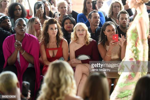 Leslie Jones Gina Gershon Patricia Clarkson and Vanessa Williams attend the Christian Siriano fashion show during New York Fashion Week The Shows at...