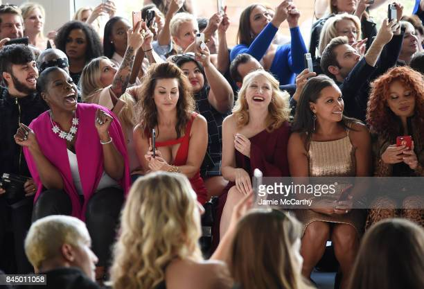 Leslie Jones Gina Gershon Patricia Clarkson Vanessa Williams and Jillian Hervey attend the Christian Siriano fashion show during New York Fashion...