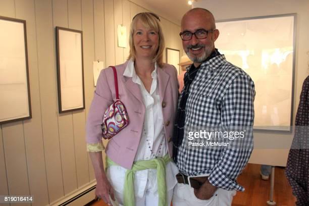 Leslie Klotz and Tim O'Brien attend Gustavo Bonevardi Opening at Gallery B on May 30 2010 in Sag Harbor New York