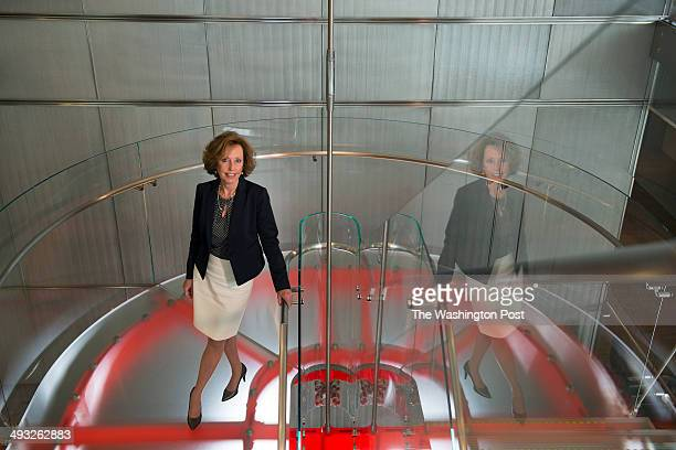 Leslie Ludwig is seen in the corporate headquarters of JBG in Chevy Chase MD on April 28 2014 Leslie is an owner partner and member of the Management...