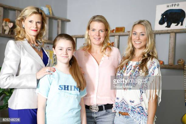 Leslie Malton Laurena Marisol Lehrich Mirja Boes and Sina Tkotsch during the set visit of the new RTL series 'Beste Schwestern' on August 1 2017 in...