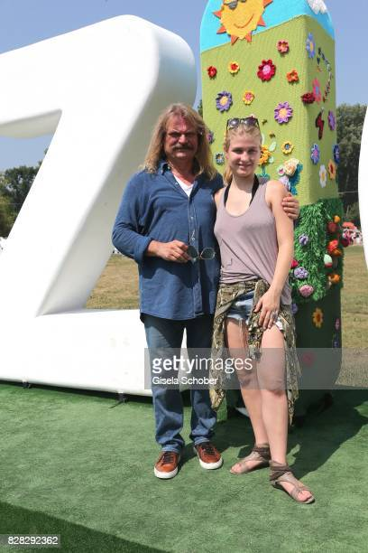 Leslie Mandoki and his daughter Julia Mandok during the sightseeing tour after the Man Doki Soulmates concert during the Sziget Festival at Budapest...