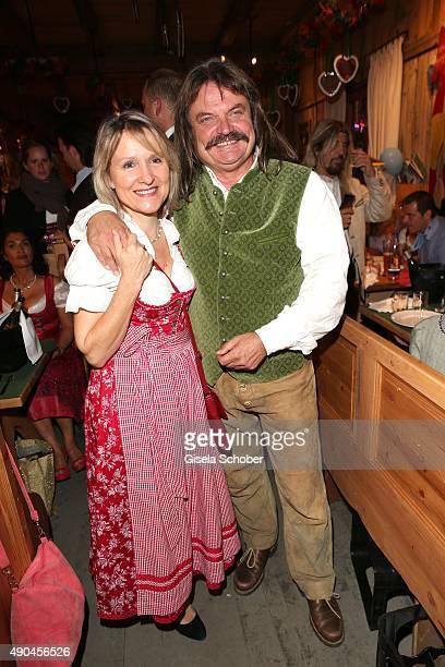 Leslie Mandoki and his wife Dr Eva Mandoki during the 'Sauerland Stammtisch' at Oktoberfest 2015 at Weinzelt /Theresienwiese on September 28 2015 in...