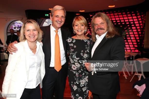 Leslie Mandoki and his wife Eva Mandoki Uschi Glas and her husband Dieter Hermann at the MercedesBenz reception at 'Klassik am Odeonsplatz' on July...