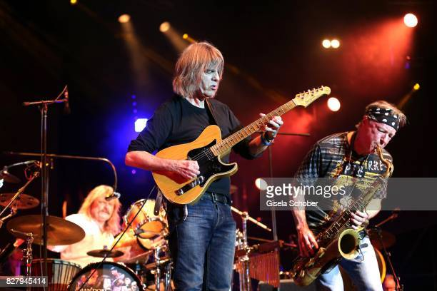 Leslie Mandoki Mike Stern Bill Evans and Man Doki Soulmates perform during the Sziget Festival at Budapest Park on August 8 2017 in Budapest Hungary...