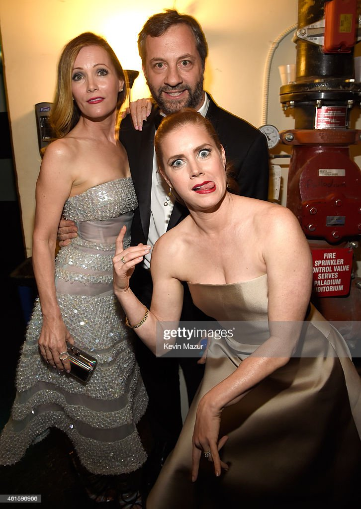 Leslie Mann Amy Adams and Judd Apatow attend the 20th annual Critics' Choice Movie Awards at the Hollywood Palladium on January 15 2015 in Los...