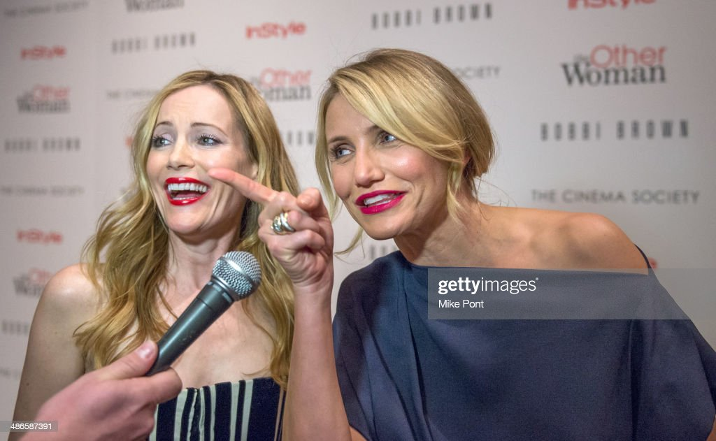 Leslie Mann and Cameron Diaz attend The Cinema Society & Bobbi Brown with InStyle screening of 'The Other Woman' at The Paley Center for Media on April 24, 2014 in New York City.