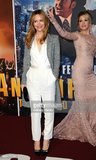 Leslie Mann and Christina Applegate attend the UK premiere of 'Anchorman 2 The Legend Continues' at Vue West End on December 11 2013 in London England
