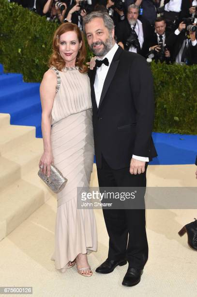 Leslie Mann and Judd Apatow attend the 'Rei Kawakubo/Comme des Garcons Art Of The InBetween' Costume Institute Gala at Metropolitan Museum of Art on...