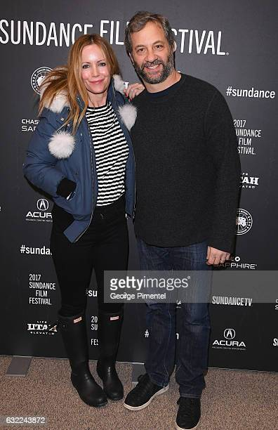 Leslie Mann and Judd Apatow attend the 'The Big Sick' premiere during day 2 of the 2017 Sundance Film Festival at Eccles Center Theatre on January 20...