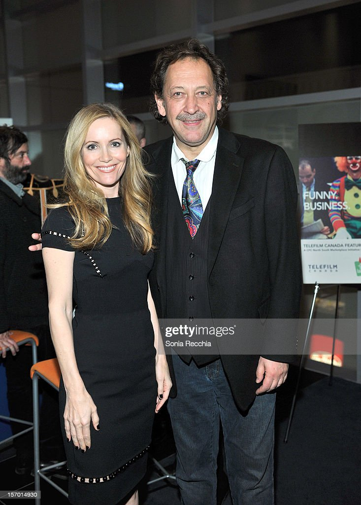 Leslie Mann and Slawko Klymkiw attend CFC Presents An Evening With Leslie Mann And Judd Apatow at TIFF Bell Lightbox on November 26, 2012 in Toronto, Canada.