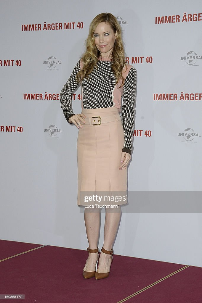 Leslie Mann attends 'Immer Aerger mit 40' ( This Is 40 ) Germany photocall at the Hotel Adlon on January 30, 2013 in Berlin, Germany.