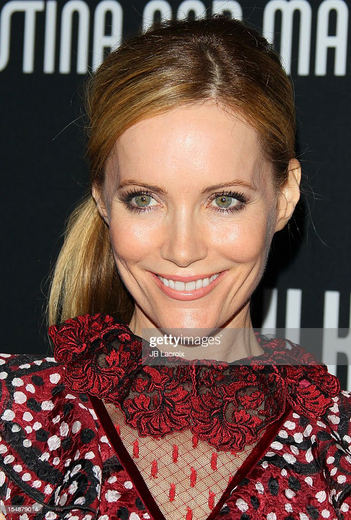 Leslie Mann attends the 8th Annual Pink Party at Barkar Hangar on October 27, 2012 in Santa Monica, California.