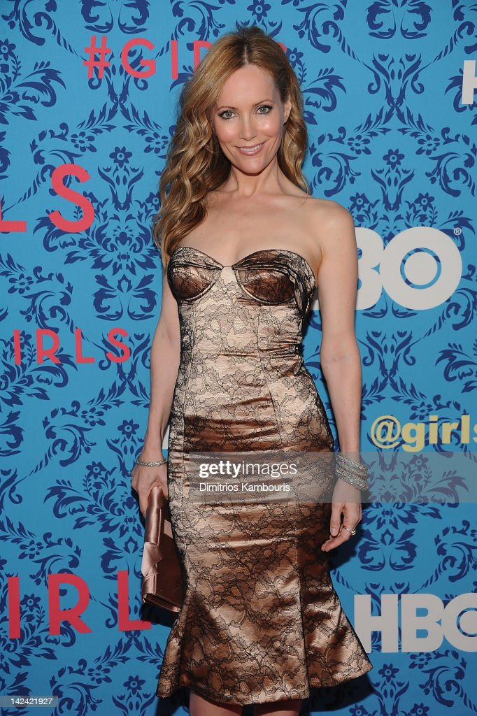 Leslie Mann attends the HBO with the Cinema Society host the New York premiere of HBO's 'Girls' at the School of Visual Arts Theater on April 4, 2012 in New York City.