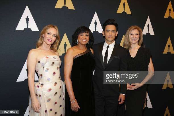 Leslie Mann Cheryl Boone Isaacs John Cho and Dawn Hudson attend The Academy Of Motion Picture Arts And Sciences' Scientific And Technical Awards...