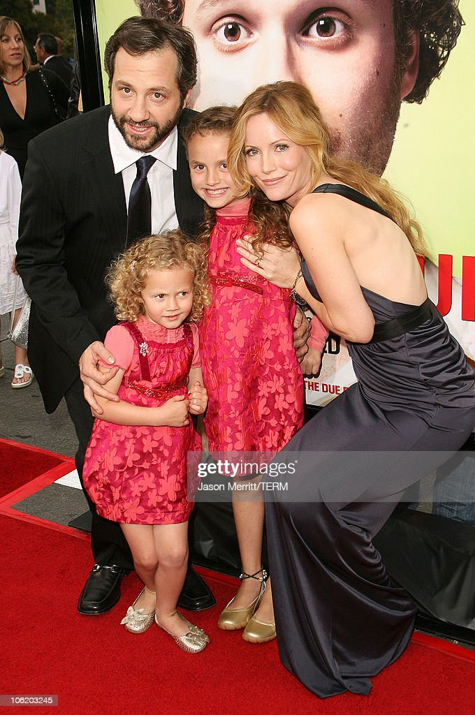 Leslie Mann husband Judd Apatow daughters Maude and Iris Apatow