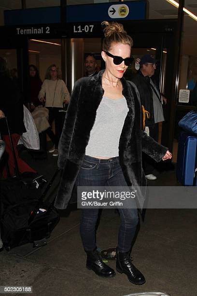 Leslie Mann is seen at LAX on December 22 2015 in Los Angeles California