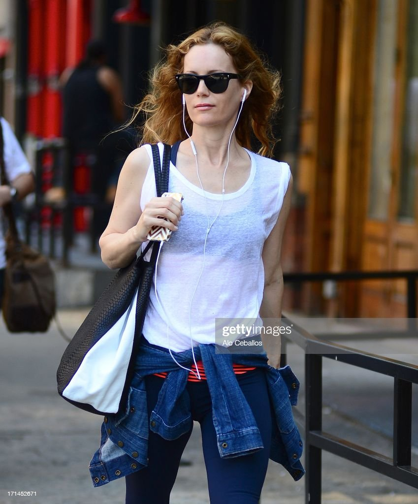 Leslie Mann is seen in Tribeca on June 24, 2013 in New York City.