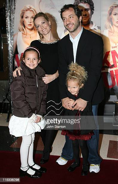 Leslie Mann Judd Apatow and family during 'Knocked Up' Sydney Premiere Arrivals at Hoyts Entertainment Quarter in Sydney NSW Australia