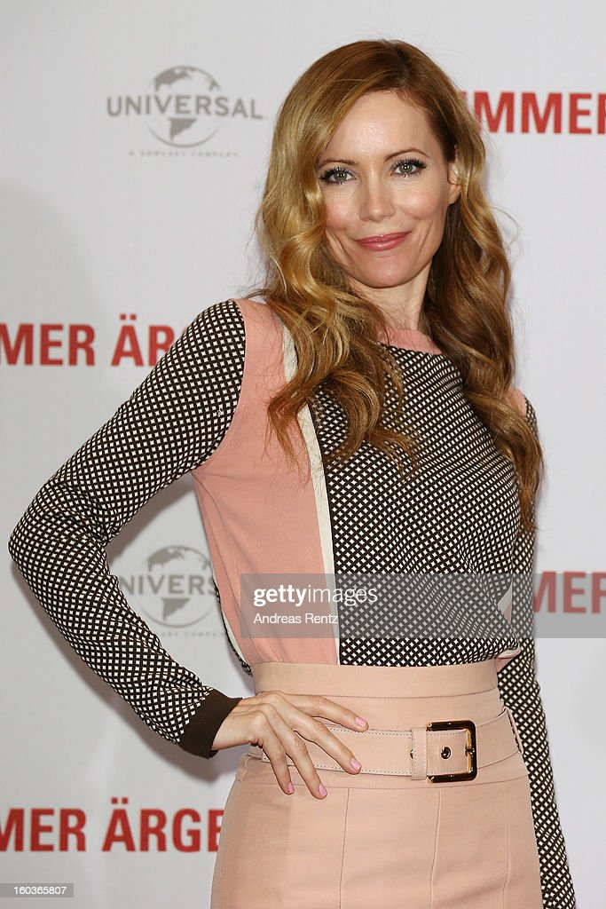 Leslie Mann looks on during the photocall 'Immer Aerger mit 40' (This Is 40) at Adlon Hotel on January 30, 2013 in Berlin, Germany.