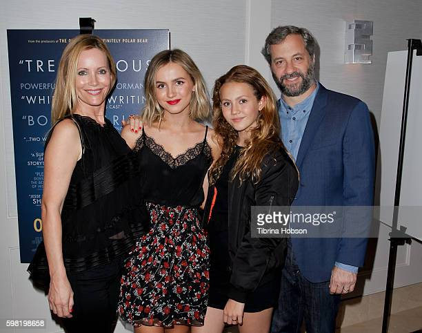 Leslie Mann Maude Apatow Iris Apatow and Judd Apatow attend the Premiere of Vertical Entertainment's 'Other People' at The London West Hollywood on...