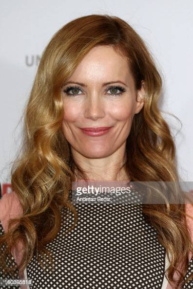 Leslie Mann smiles during the photocall 'Immer Aerger mit 40' at Adlon Hotel on January 30 2013 in Berlin Germany