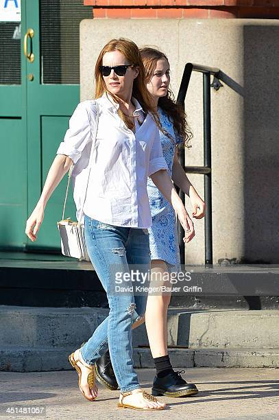 Leslie Mann with daughter Maude Apatow are seen on June 21 2013 in New York California