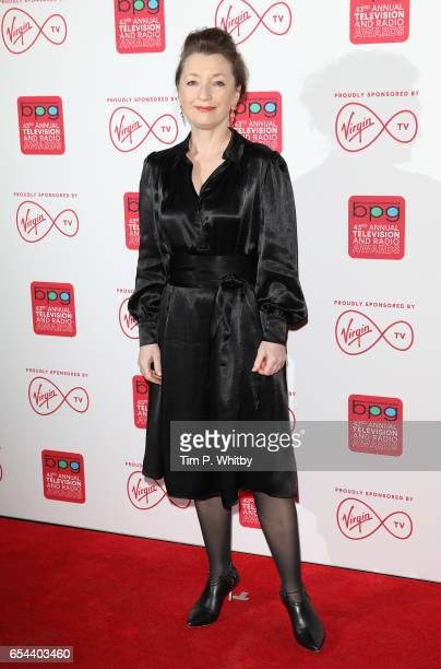 Leslie Manville attends the Broadcasting Press Guild Television Radio Awards at Theatre Royal on March 17 2017 in London England