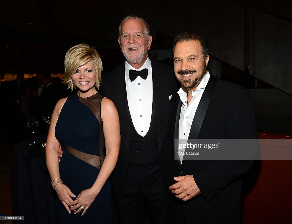 Leslie Miller, American Film Institute Vice-Chairman Rich Frank and Producer Edward Zwick onstage during AFI's 41st Life Achievement Award Tribute to Mel Brooks at Dolby Theatre on June 6, 2013 in Hollywood, California. 23647_005_MD_0456.JPG