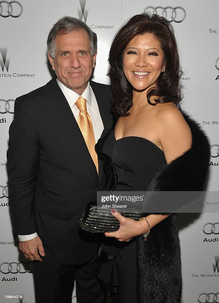 Leslie Moonves and Julie Chen attend the party hosted by the Weinstein Company and Audi to Celebrate Awards Season at Chateau Marmont on January 11...