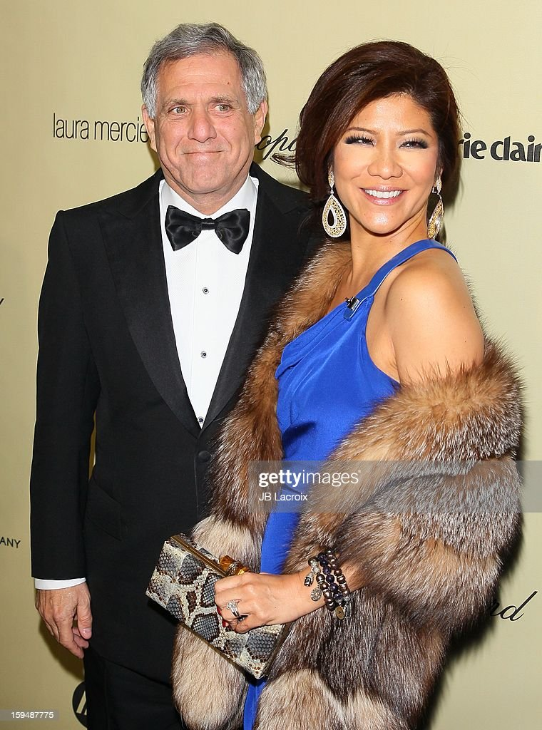 Leslie Moonves and Julie Chen attend The Weinstein Company's 2013 Golden Globes After Party at The Beverly Hilton Hotel on January 13, 2013 in Beverly Hills, California.