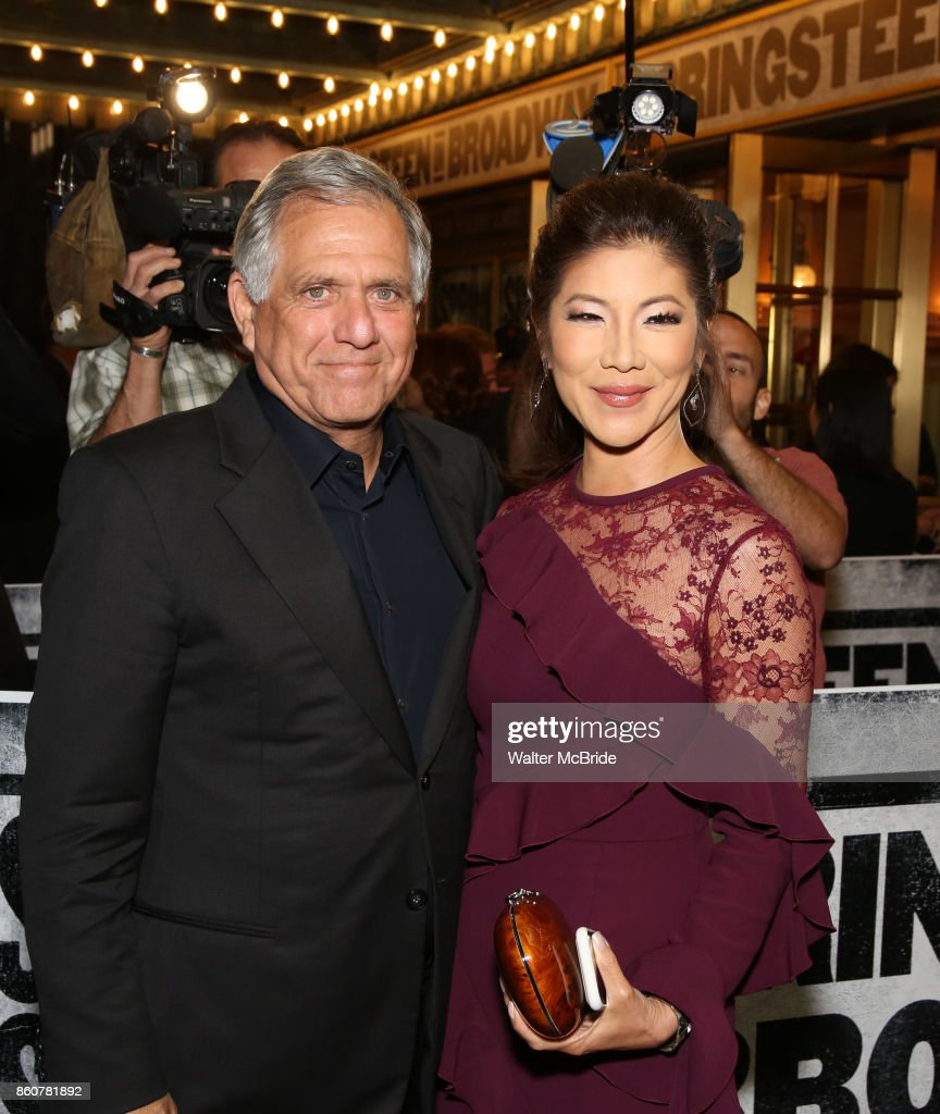 Leslie Moonves and wife Julie Chen attending the opening night performance for 'Springsteen on Broadway' at The Walter Kerr Theatre on October 12, 2017 in New York City.