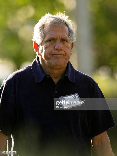 Leslie Moonves president and chief executive officer of CBS Corp arrives for a morning session during the Allen Co Media and Technology Conference in...