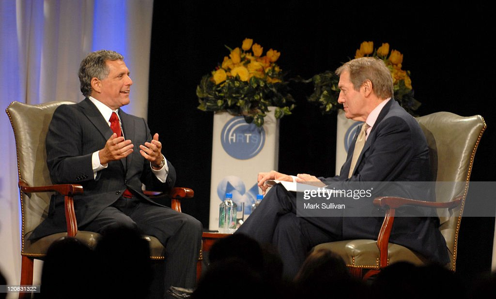 Leslie Moonves talks with Charlie Rose during The Hollywood Radio Television Society Presents 'A Conversation with Leslie Moonves' Newsmaker Luncheon...