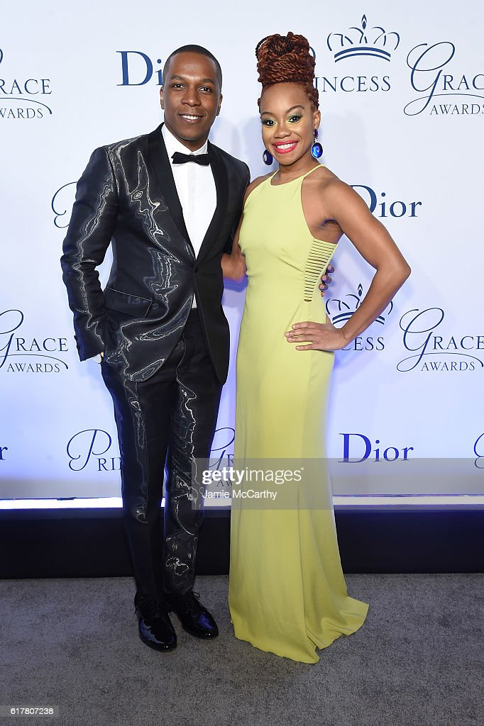 Leslie Odom Jr. and Camille A. Brown attend the 2016 Princess Grace awards gala at Cipriani 25 Broadway on October 24, 2016 in New York City.